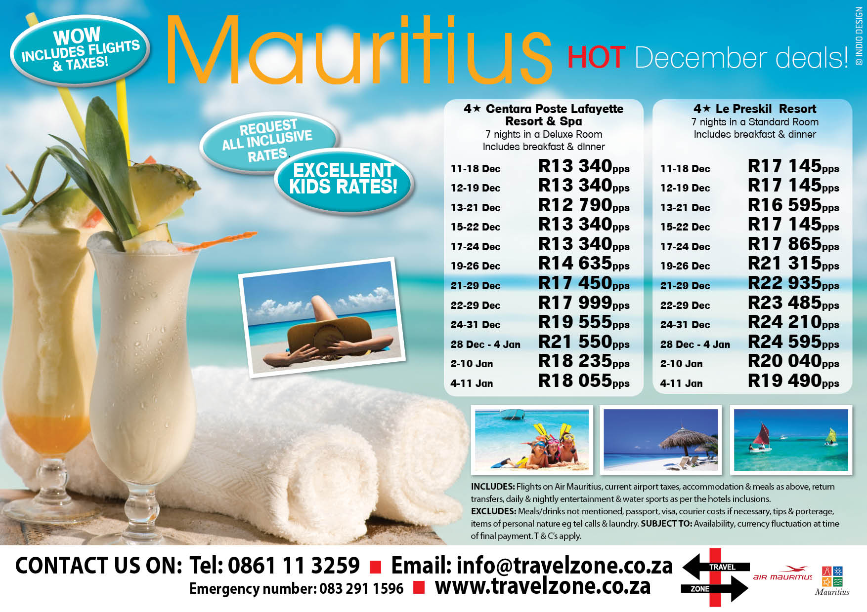 Mauritius 4* hot December deals