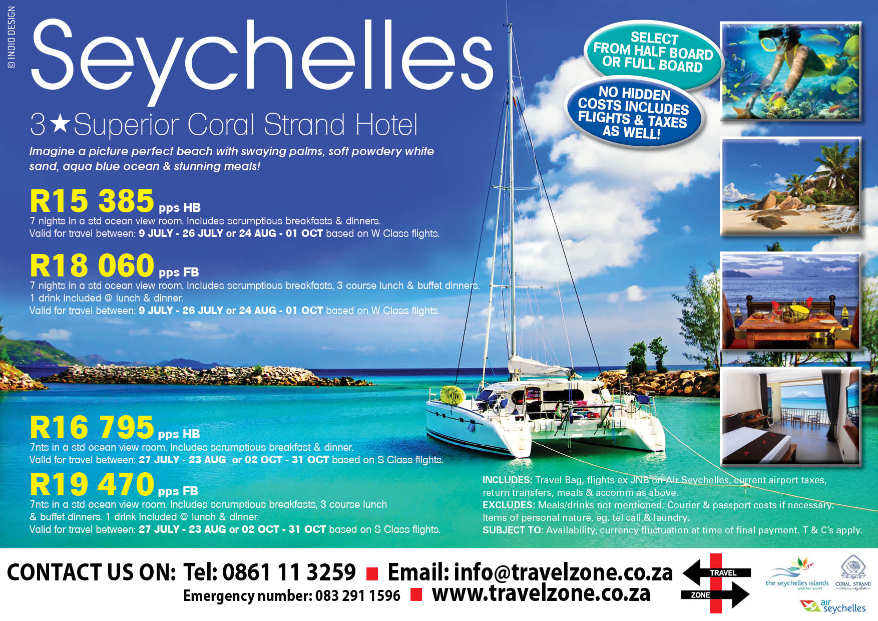 Seychelles Coral Strand database ad
